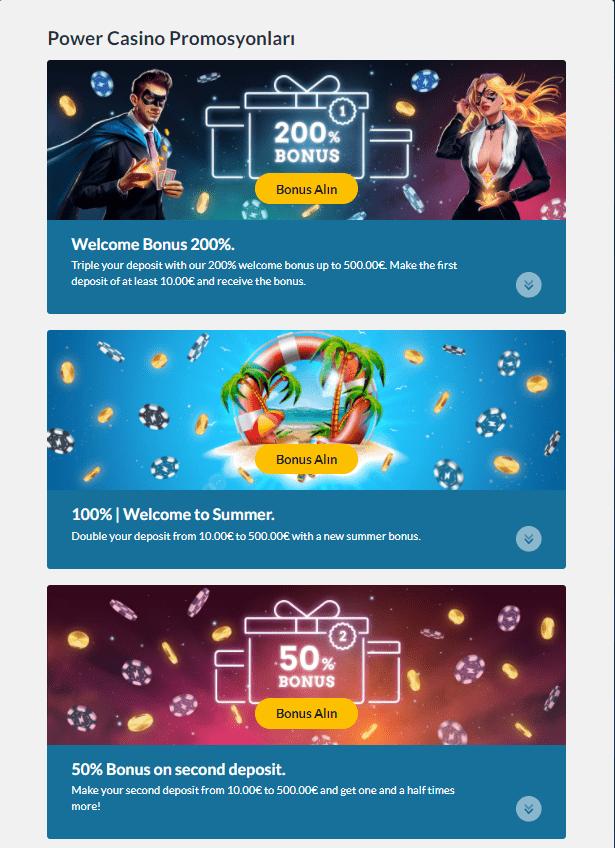 power casino promosyonları