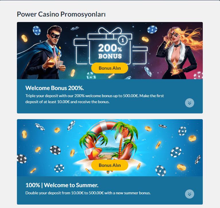 Power Casino bonus 1